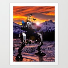 Spring Break on the Ice Planet Hoth Art Print