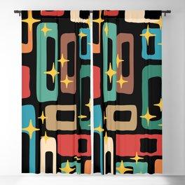 Retro Mid Century Modern Abstract Pattern 223 Blackout Curtain