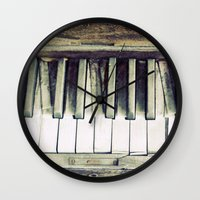 piano Wall Clocks featuring piano by hilde.
