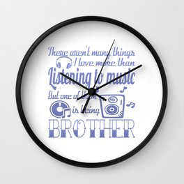 Listening to Music Brother Wall Clock