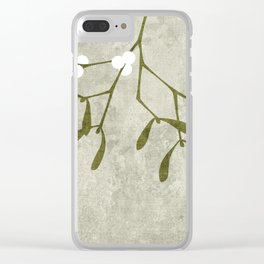 Mistletoe Clear iPhone Case
