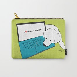 Techie Great Pyrenees Puppy Carry-All Pouch