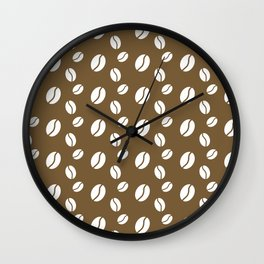 coffee bean pattern Wall Clock