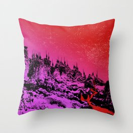 These Hills Are Hostile Throw Pillow