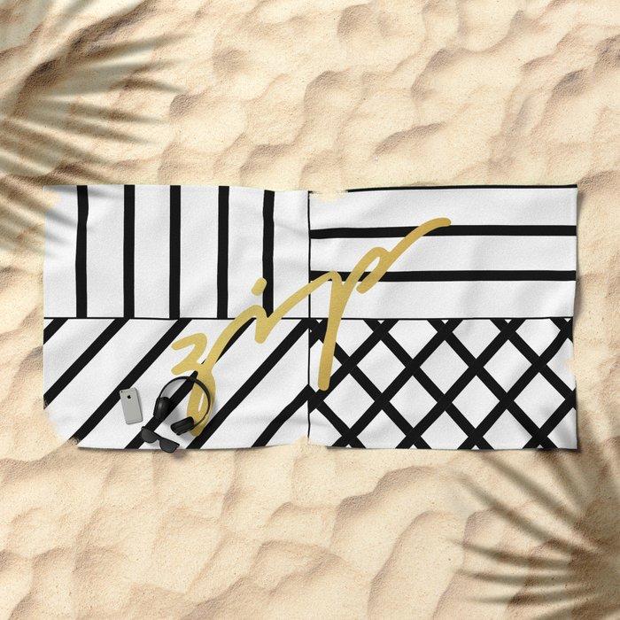 Zip Beach Towel