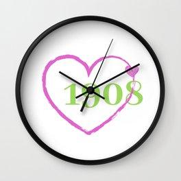 1908 Heart Wall Clock