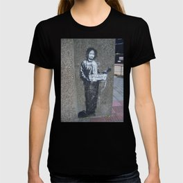 Banksy Hitchhiker to Anywhere T-shirt