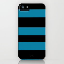Primary Blue, Wishing Well Blue, Amazing Sky Blue, Blue to the Bone Hand Drawn Fat Horizontal Stripe iPhone Case