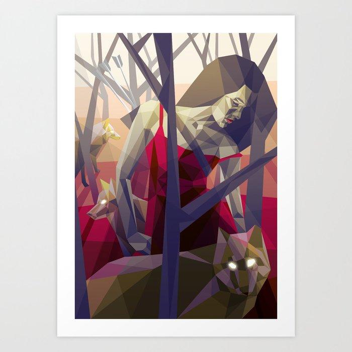 Of the hunt Art Print