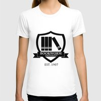 bookworm T-shirts featuring Bookworm University by bookwormboutique