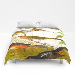 chestnut colored finch Comforters