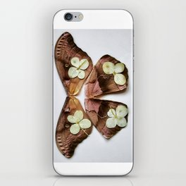 Moth with Yellow Flowers iPhone Skin