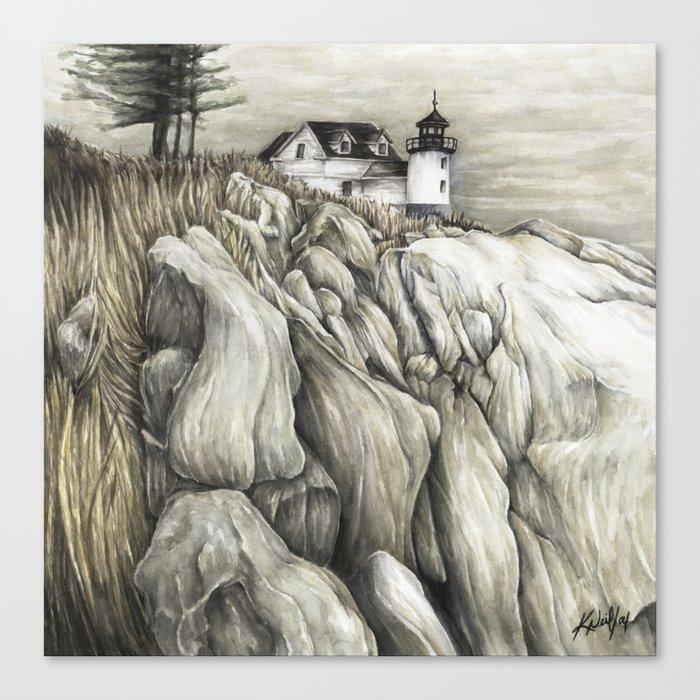 Bass Harbor Head Lighthouse Canvas Print