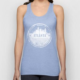 ATLANTA Distress Graphic Skyline Design Unisex Tank Top