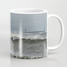 Big waves on the Back shore Coffee Mug