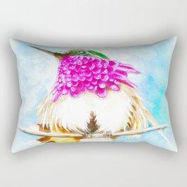 Hummingbird Inky Rectangular Pillow