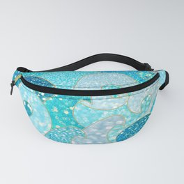Mermaid Waves And Sea Faux Glitter - Sun Light Over The Ocean Fanny Pack