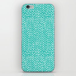 Hand Knit Aqua iPhone Skin