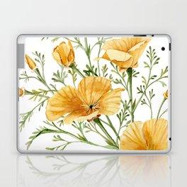 California Poppies - Watercolor Painting Laptop & iPad Skin