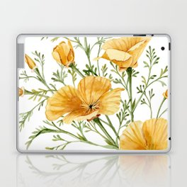 California Poppies - Watercolor Painting Laptop & iPad Skin