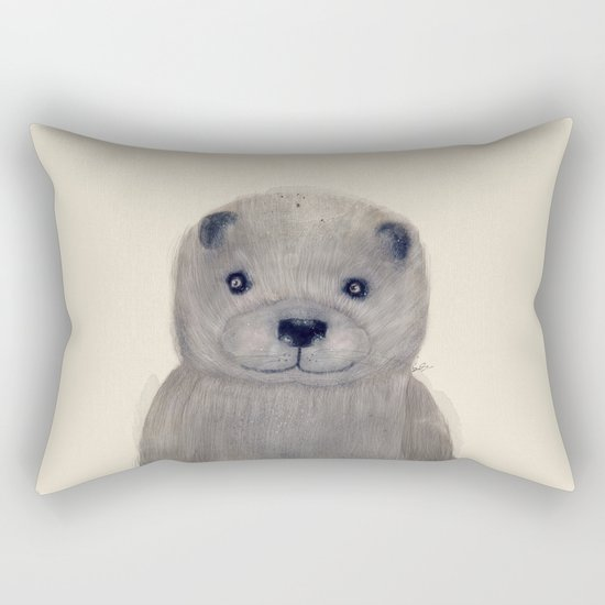 little otter Rectangular Pillow