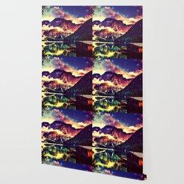Night Sky at the lake Wallpaper