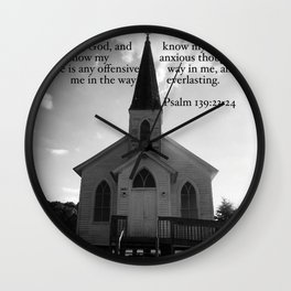 Church with a Prayer Wall Clock