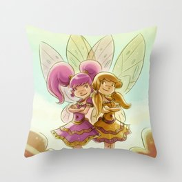Goblins Drool, Fairies Rule! - P.B. and Jelly Throw Pillow