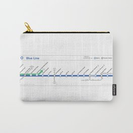 Twin Cities METRO Blue Line Map Carry-All Pouch