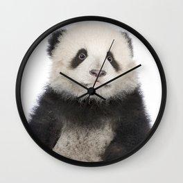 Cute Young Giant Panda Wall Clock