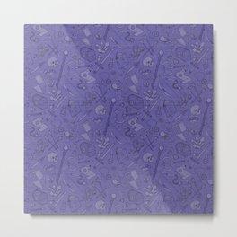 Inventory in Purple Metal Print