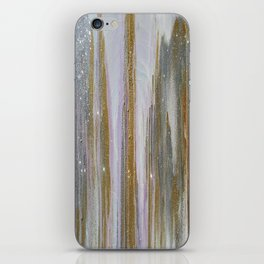 Gold and Silver Deluge iPhone Skin