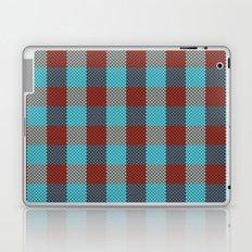 Pixel Plaid - Cranberry Bog Laptop & iPad Skin