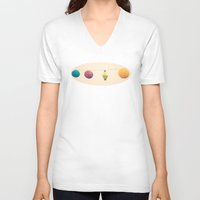 lanterns V-neck T-shirts featuring Paper Lanterns by Jessica Torres Photography