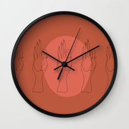 Vayu Mudra Wall Clock