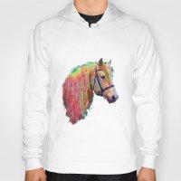 pony Hoodies featuring Rainbow Pony. by HelenMacNee