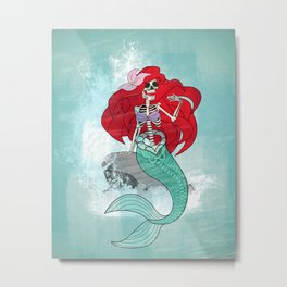 Day of the Dead Ariel Metal Print