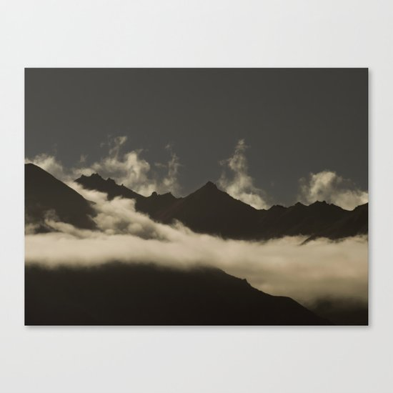 up in the mountains, down on my mind Canvas Print