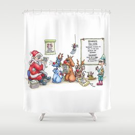 Reindeer for Hire Shower Curtain