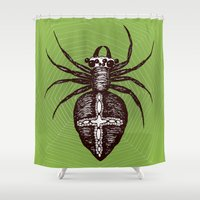 spider Shower Curtains featuring Spider by Bwiselizzy