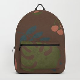 Rainforest Foliage with brown background Backpack