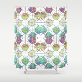 Refraction Tiles Shower Curtain