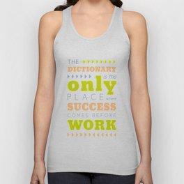 Work Before Success - Mark Twain Quote Unisex Tank Top