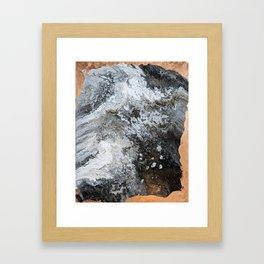 Marble & Copper 2 Framed Art Print