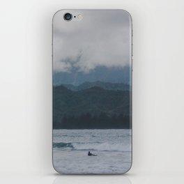 Lone Surfer - Hanalei Bay - Kauai, Hawaii iPhone Skin