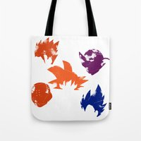 foo fighters Tote Bags featuring Z Fighters by luvusagi
