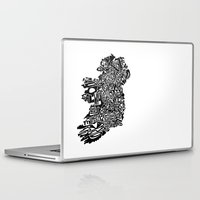 ruben ireland Laptop & iPad Skins featuring Typographic Ireland by CAPow!