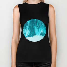 Bright Blue Snow Nights with Icicles Biker Tank