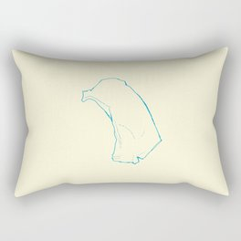 On the Day I Loved You the Least Rectangular Pillow