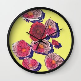 'Cosmos'politan / Flowers in sunlight Wall Clock